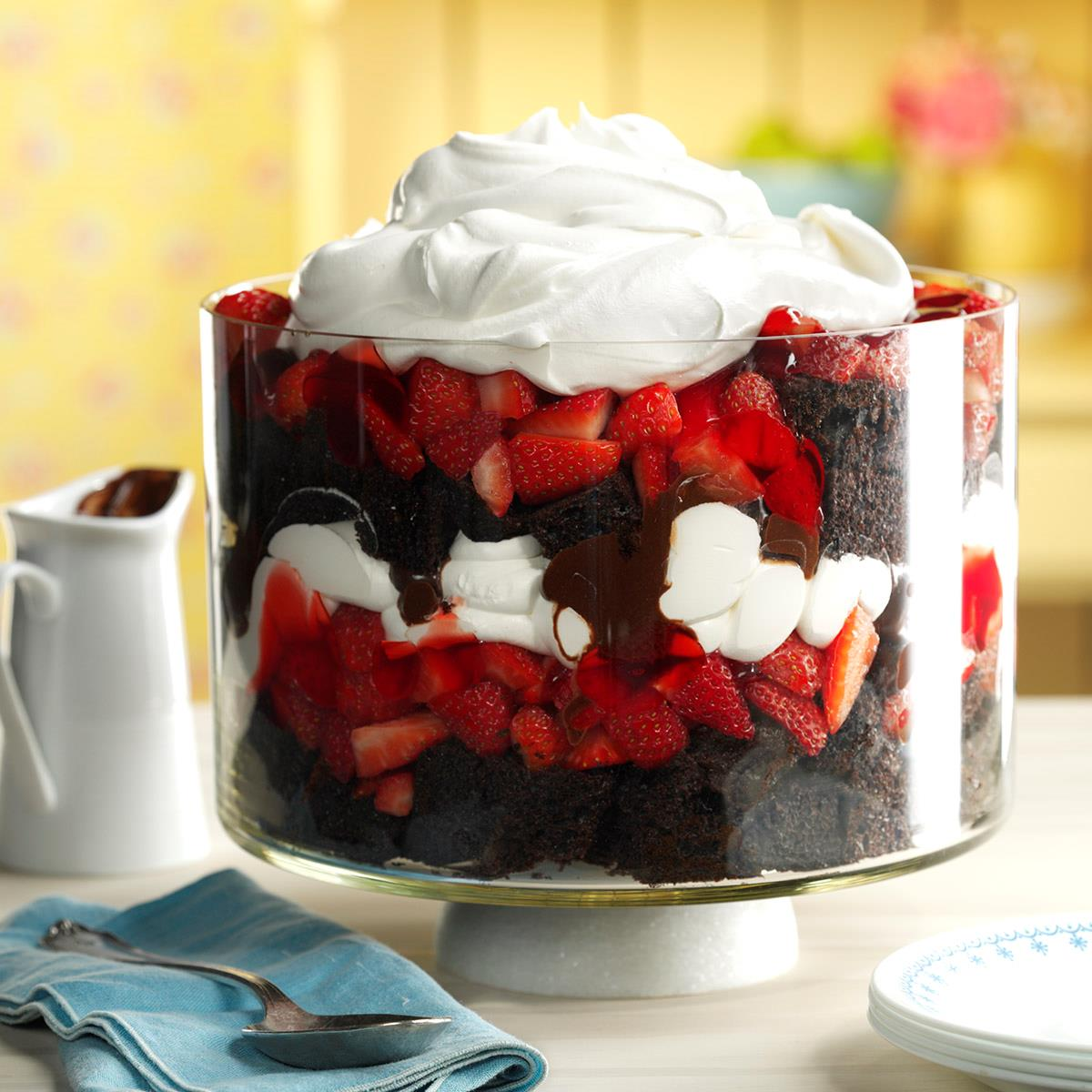 Chocolate Strawberry Punch Bowl Trifle Taste of Home
