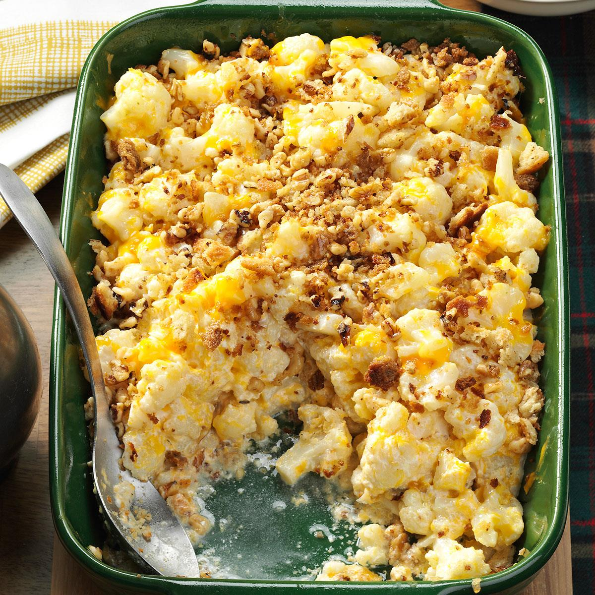 christmas cauliflower casserole recipe taste of home