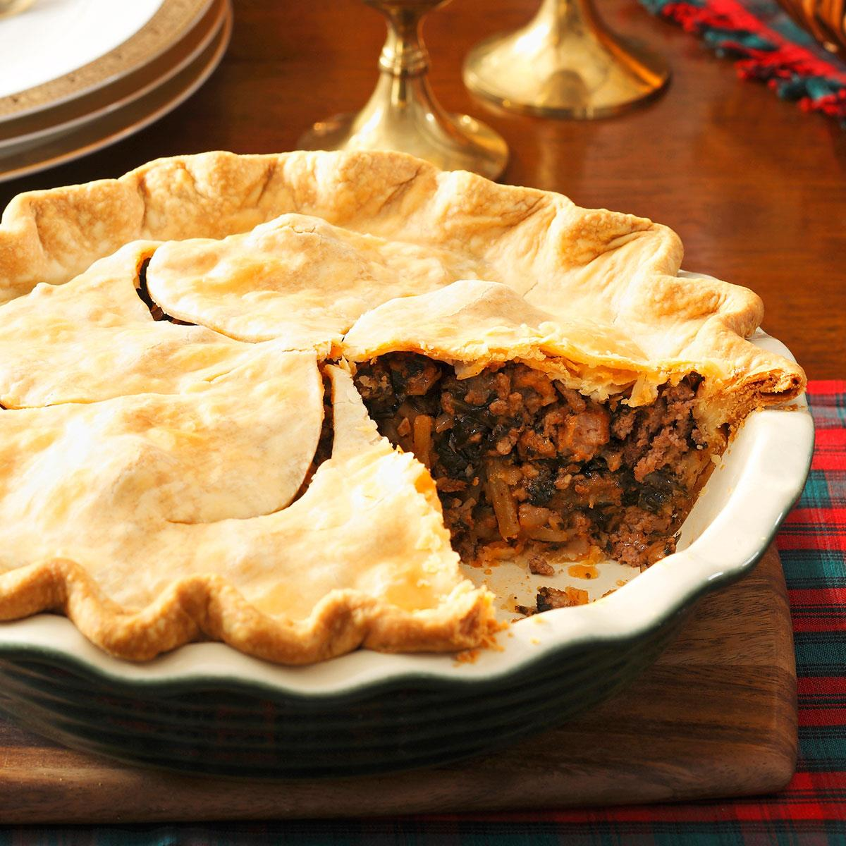 christmas eve meat pie recipe taste of home - Christmas Pies