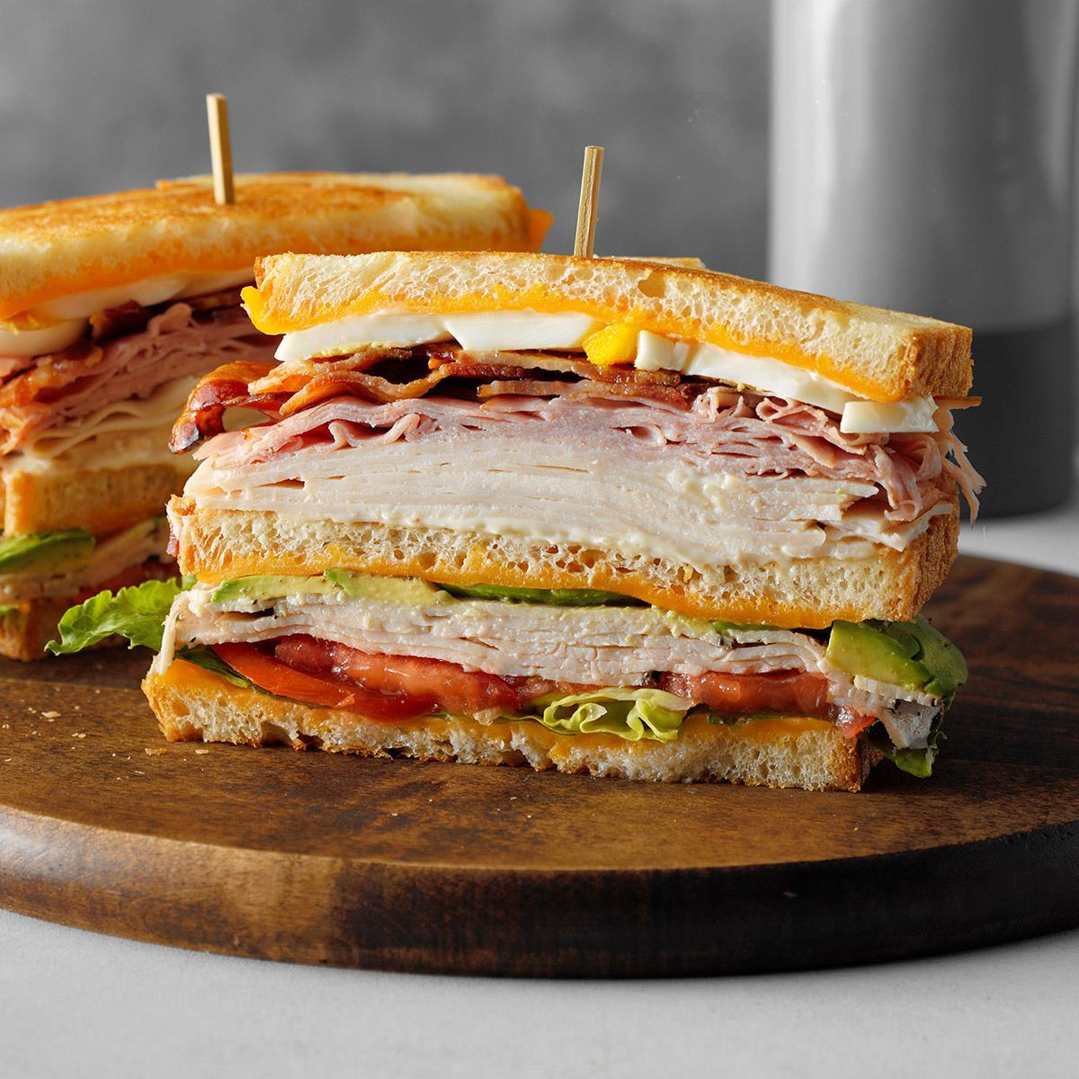 Cobb Salad Club Sandwich Recip...