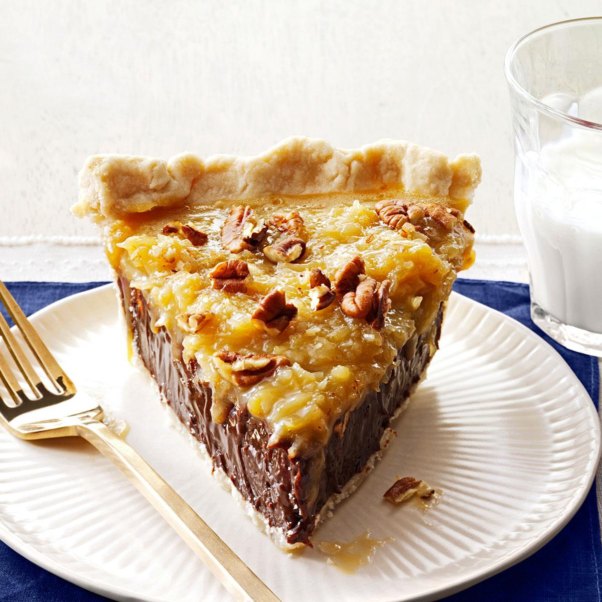 Coconut Pecan German Chocolate Pie Recipe