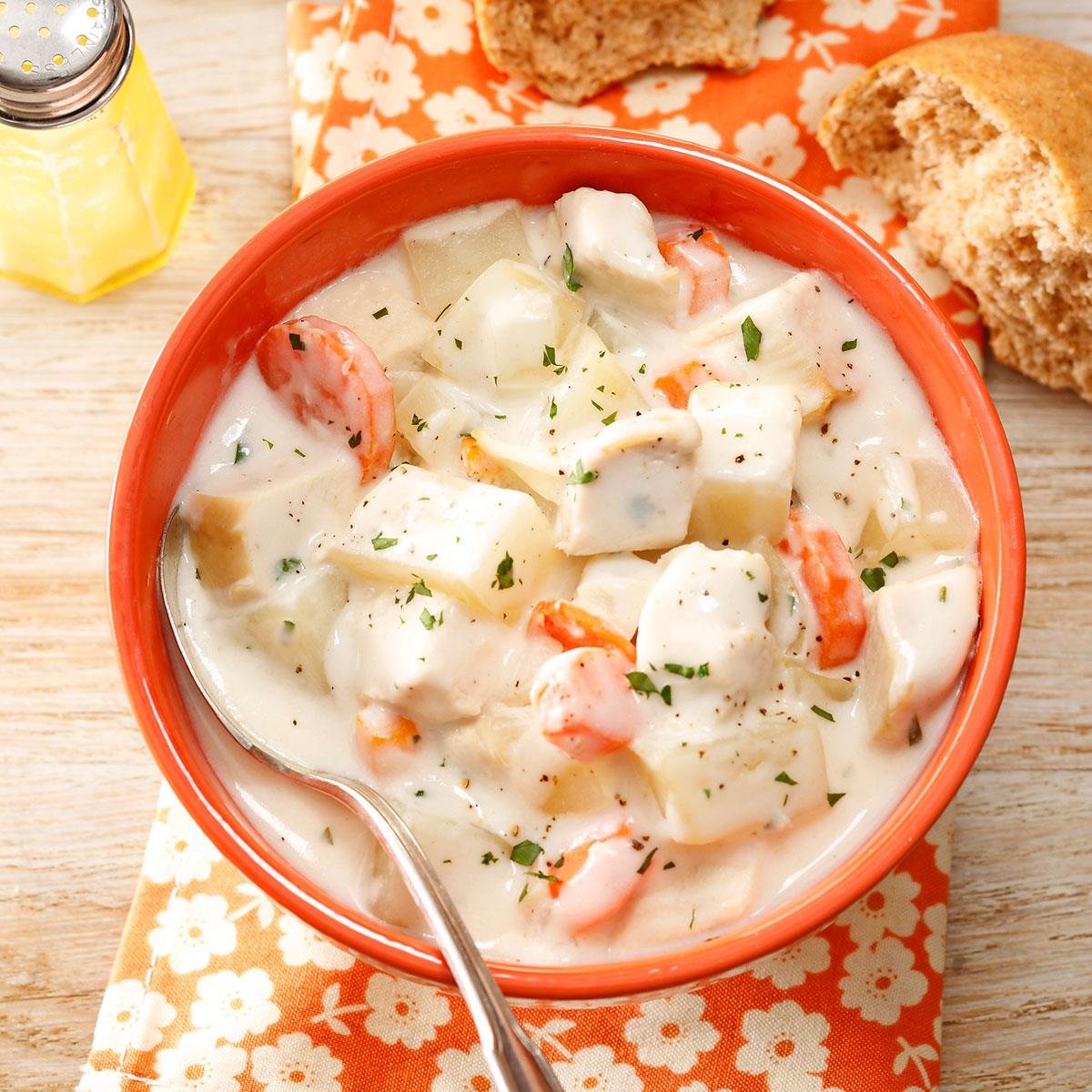 Cream cheese chicken soup recipe taste of home forumfinder Choice Image