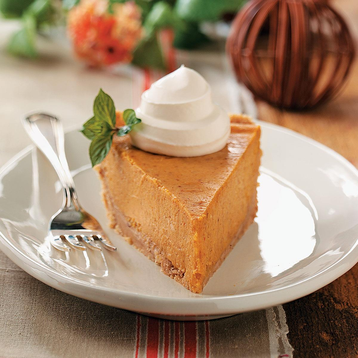Cream Cheese Pumpkin Pie Recipe Taste Of Home