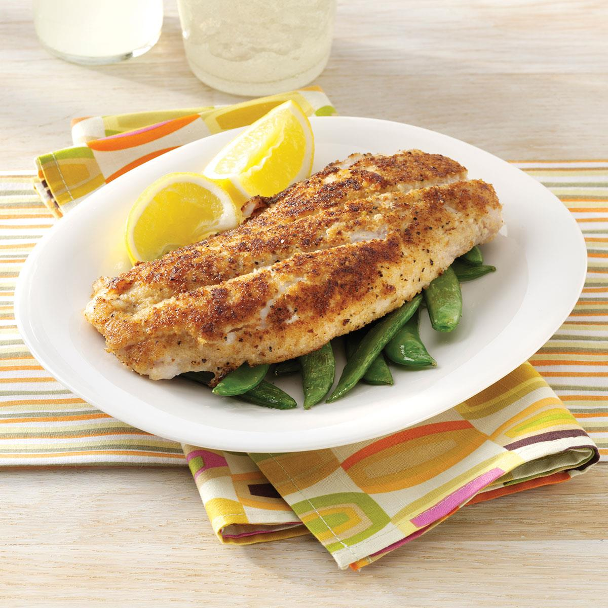 Crumb coated red snapper recipe taste of home forumfinder Images