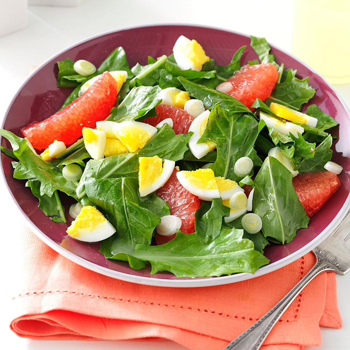 Dandelion Salad Recipe Taste Of Home