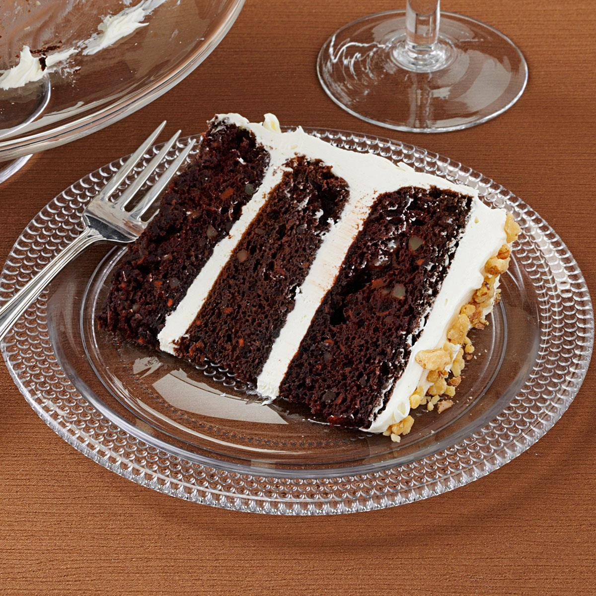 Dark Chocolate Carrot Cake Recipe Taste Of Home