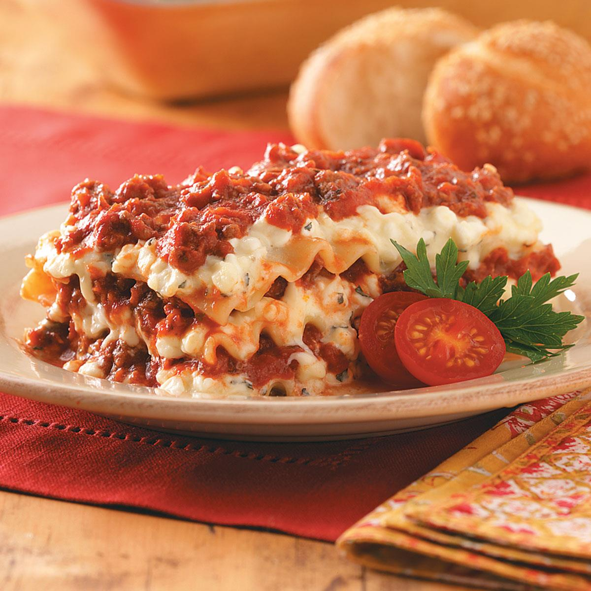 Donna lasagna recipe taste of home forumfinder Image collections