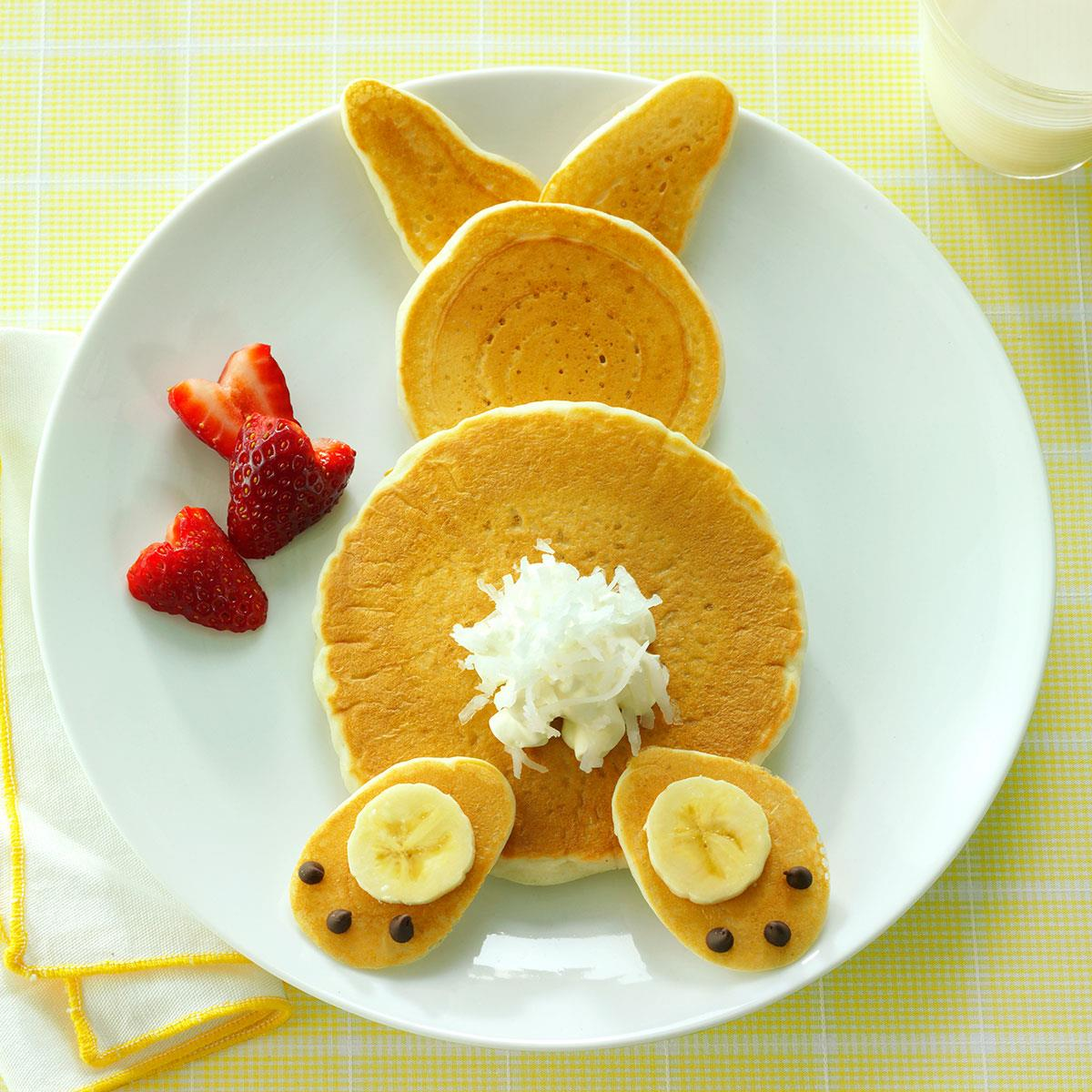 fluffy bunny pancakes recipe taste of home