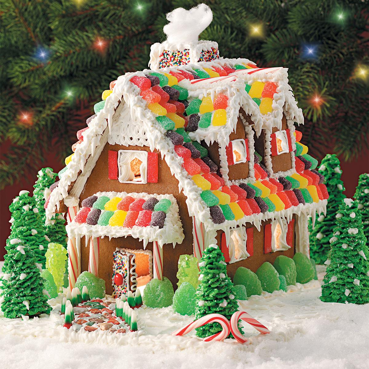 gingerbread christmas cottage recipe taste of home - Gingerbread House Christmas Decoration