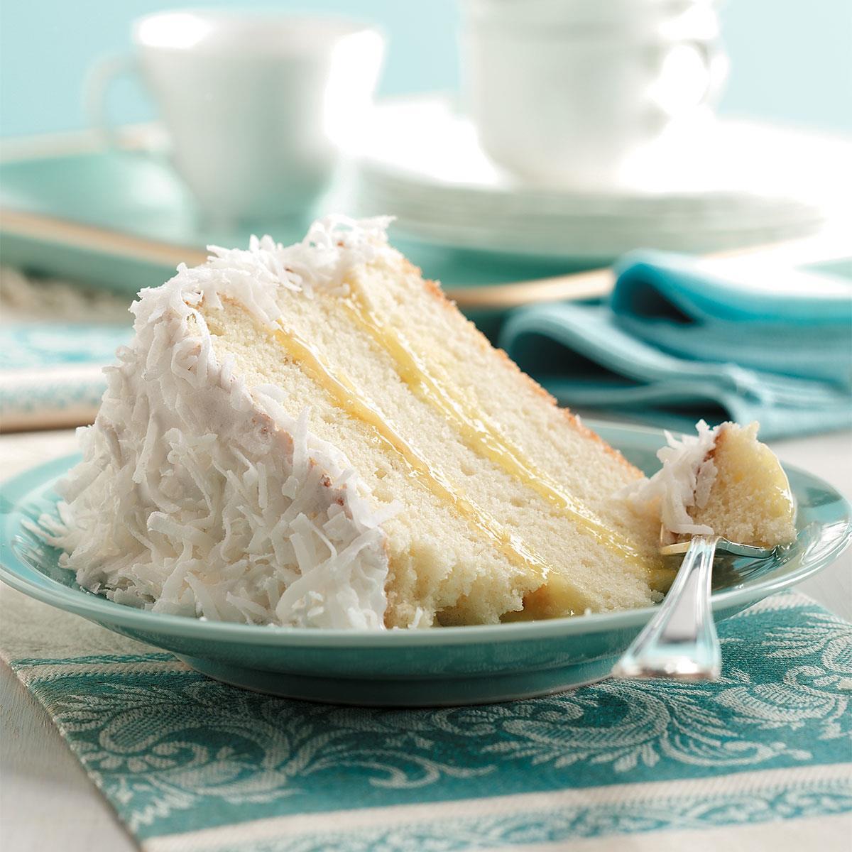 Lemon Filled Coconut Cake Recipe Taste Of Home