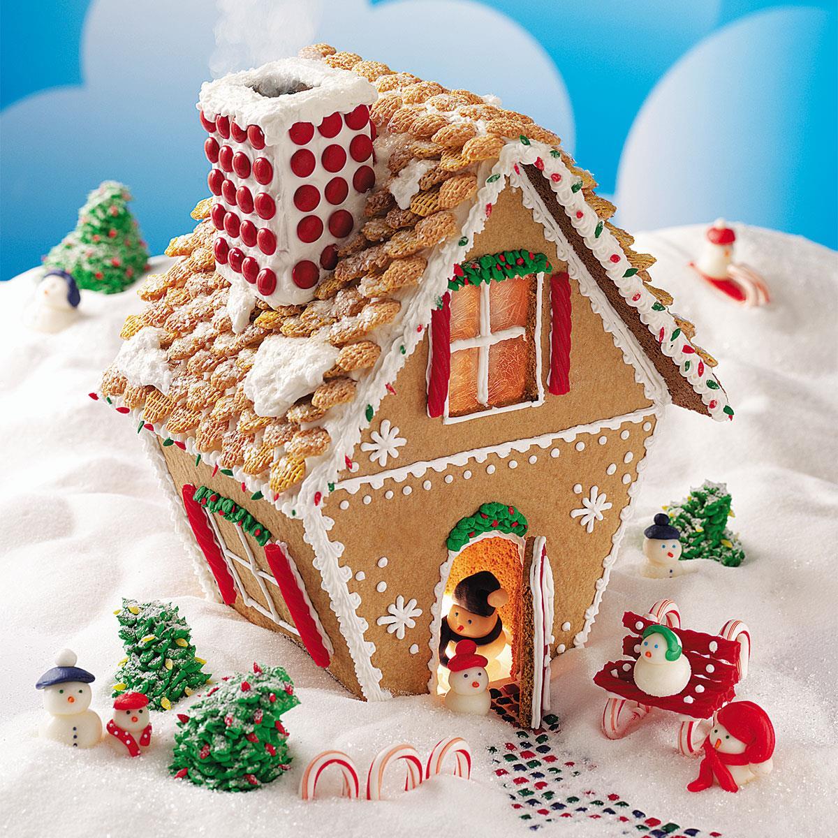 Winter Wonderland Gingerbread Cottage Recipe Taste Of Home
