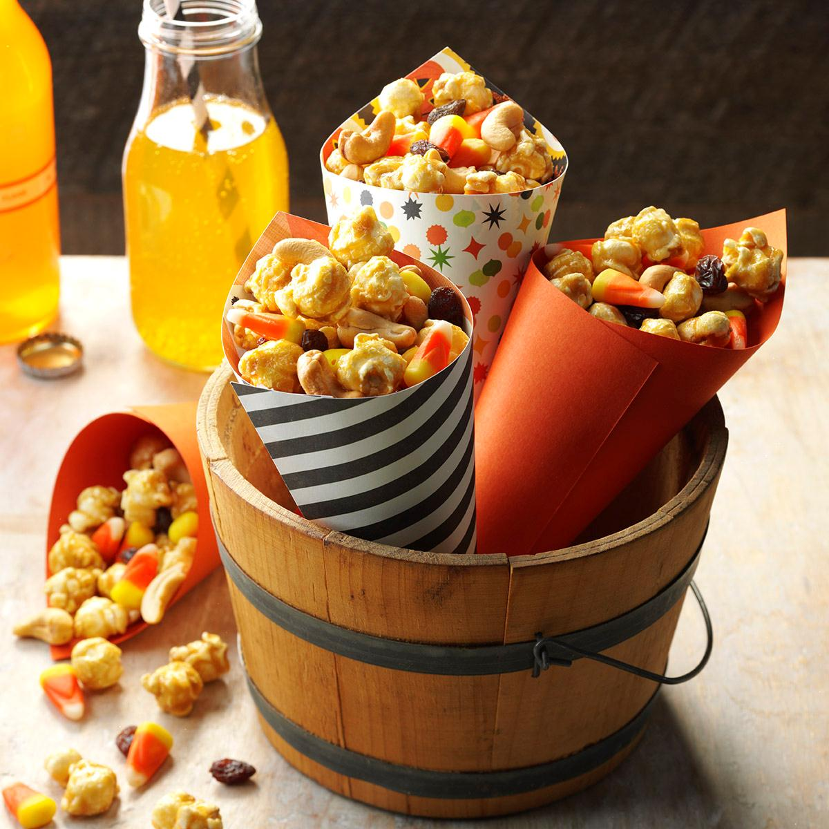 halloween snack mix recipe taste of home