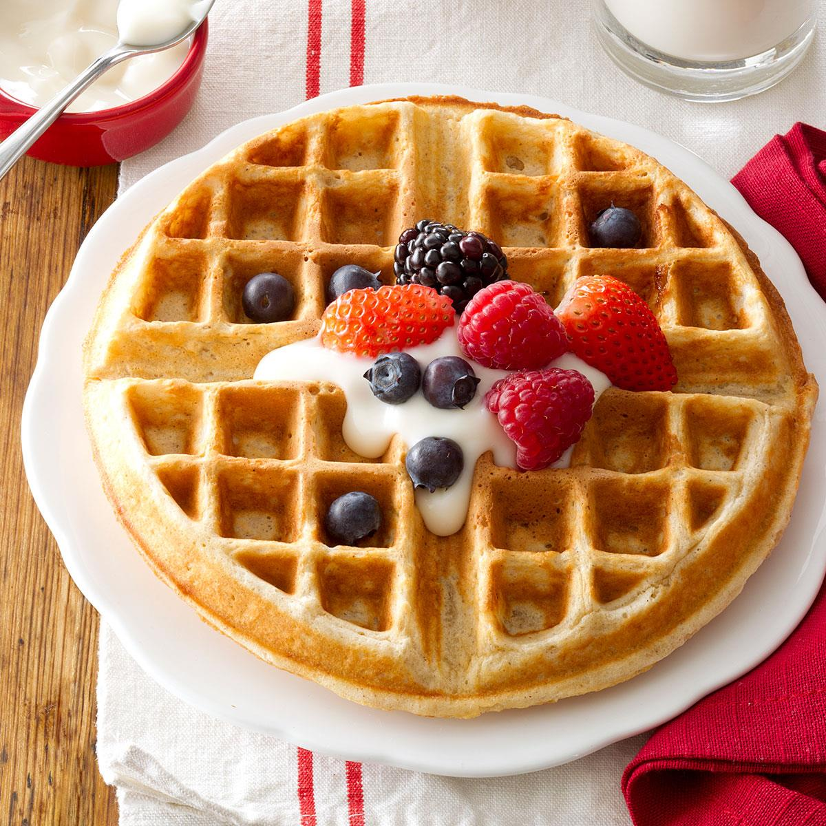 Family favorite oatmeal waffles recipe taste of home forumfinder Gallery