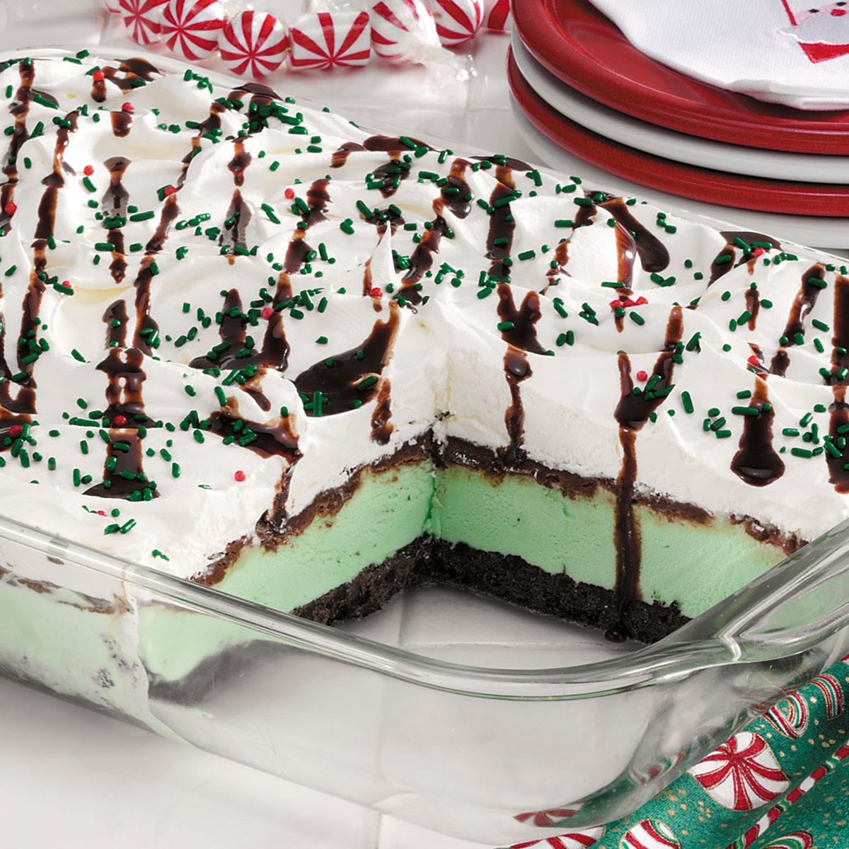 Christmas Dessert Recipes.Festive Mint Cream Dessert