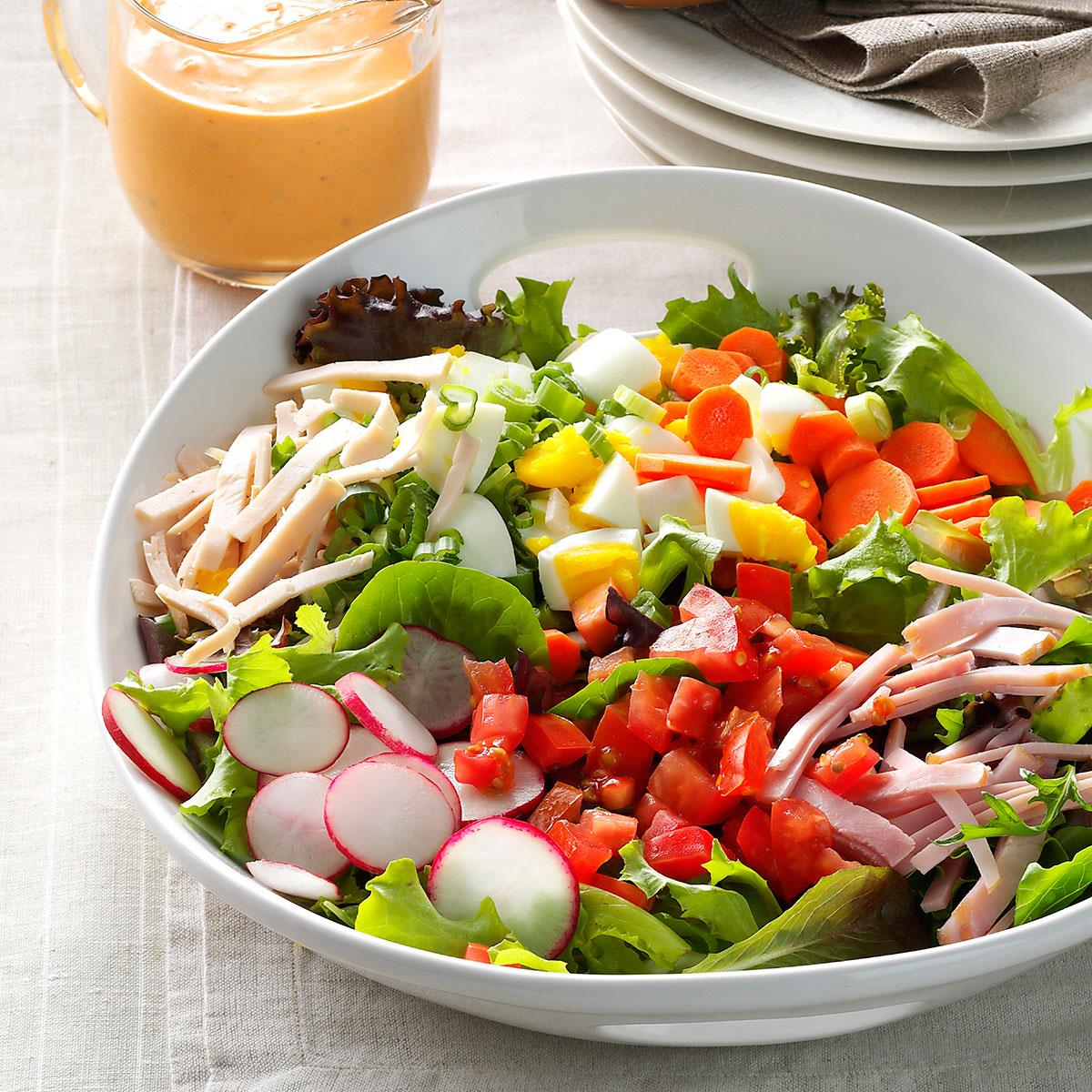 garden fresh chef salad recipe taste of home - Garden Salad Recipe