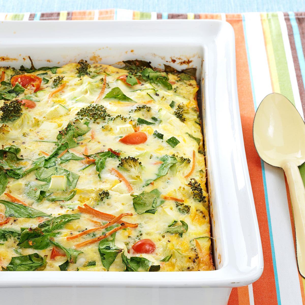 Garden Veggie Egg Bake Recipe Taste Of Home