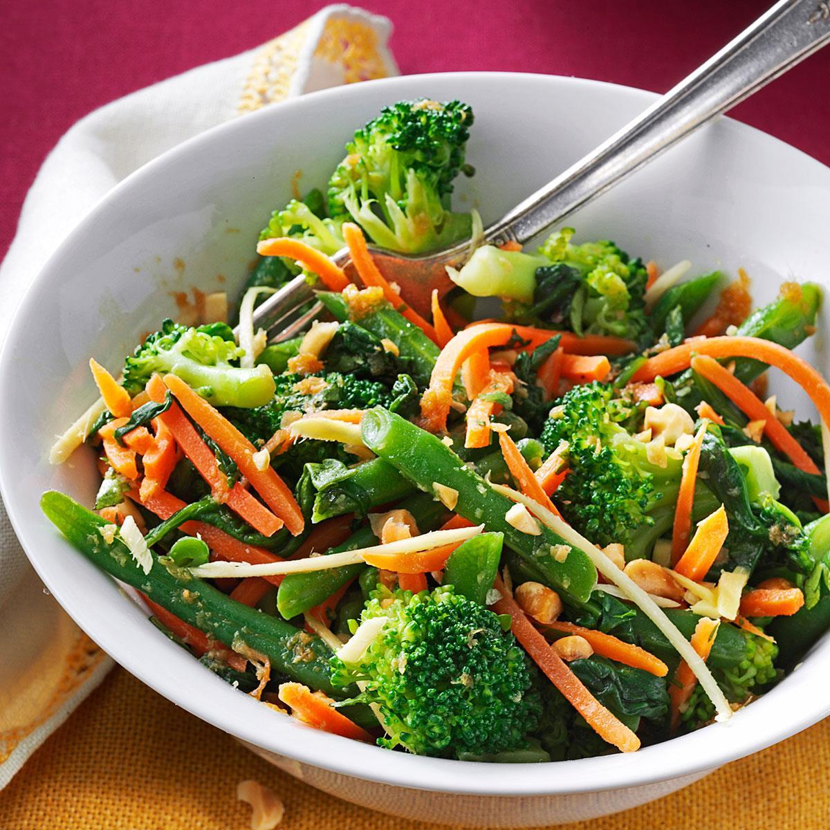 Ginger Sesame Steamed Vegetable Salad