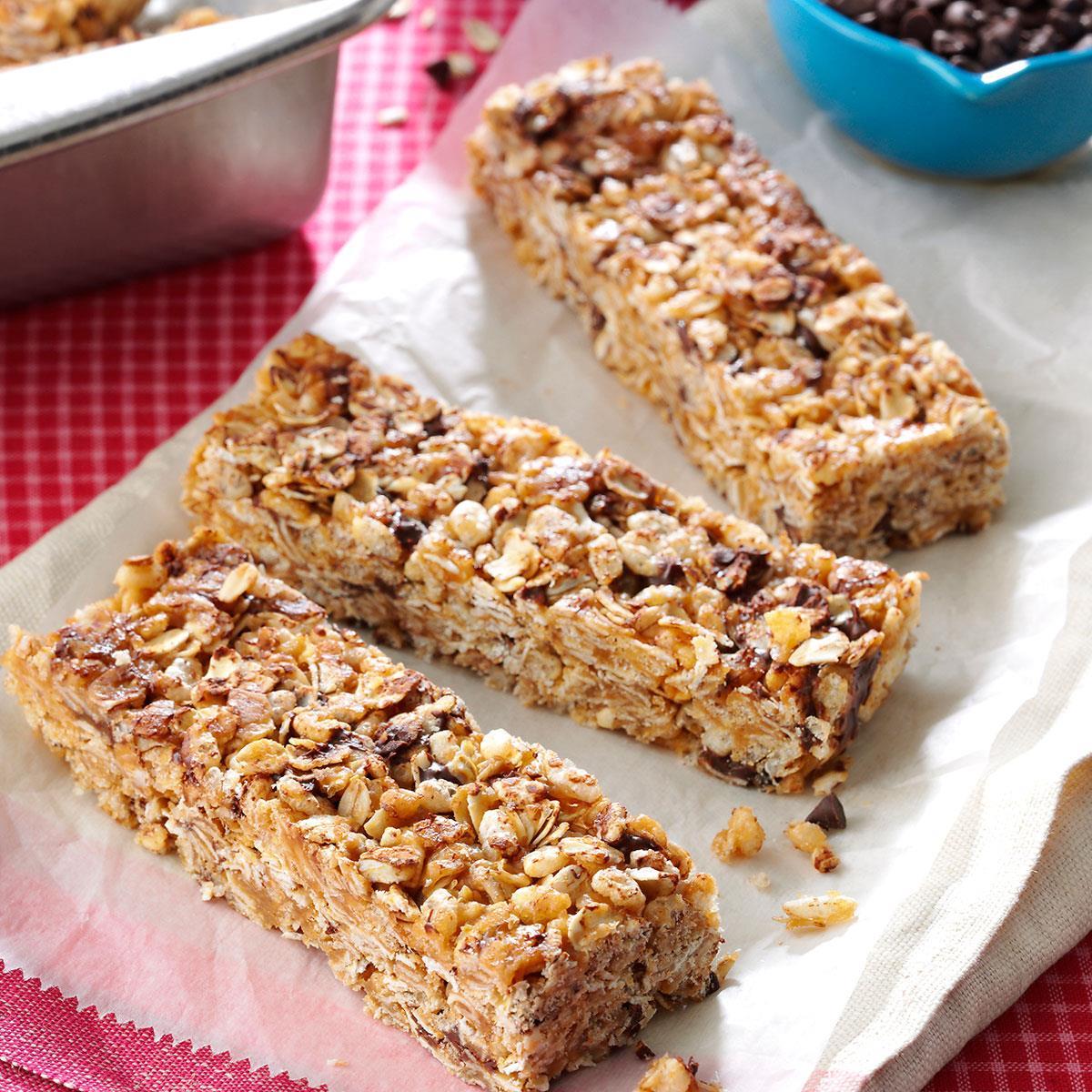 granola cereal bars recipe taste of home
