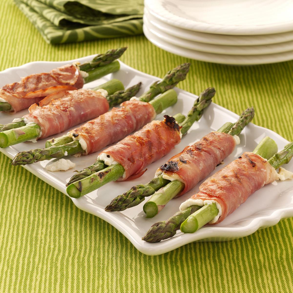 grilled prosciutto asparagus recipe | taste of home