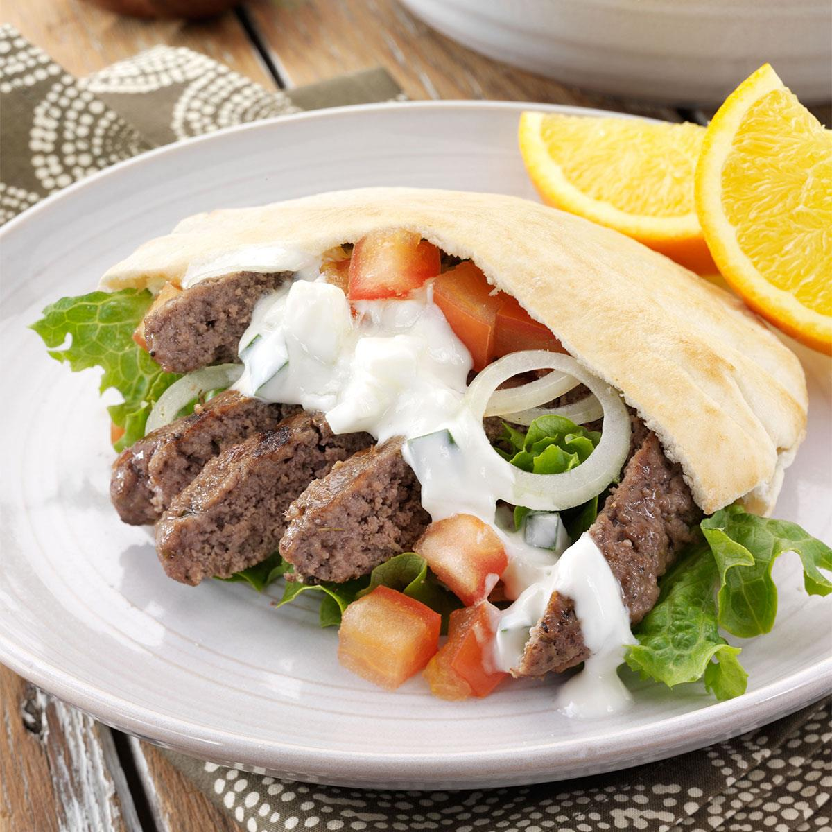Ground beef gyros recipe taste of home forumfinder Images