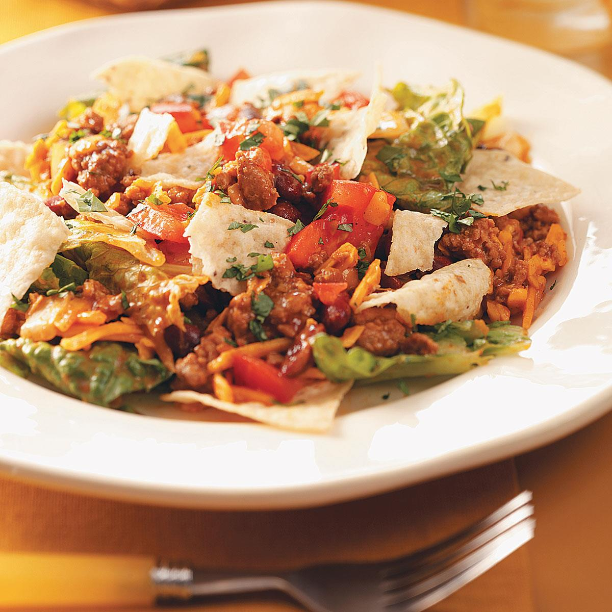 Ground pork taco salad recipe taste of home forumfinder Image collections