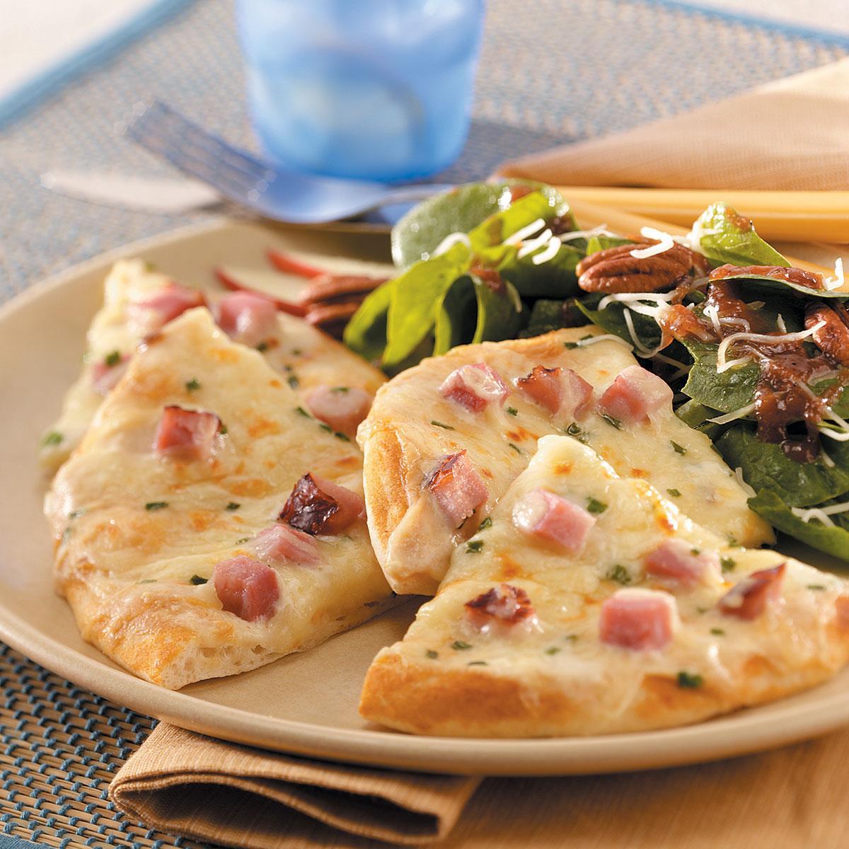 Ham N Cheese Pizzas Recipe