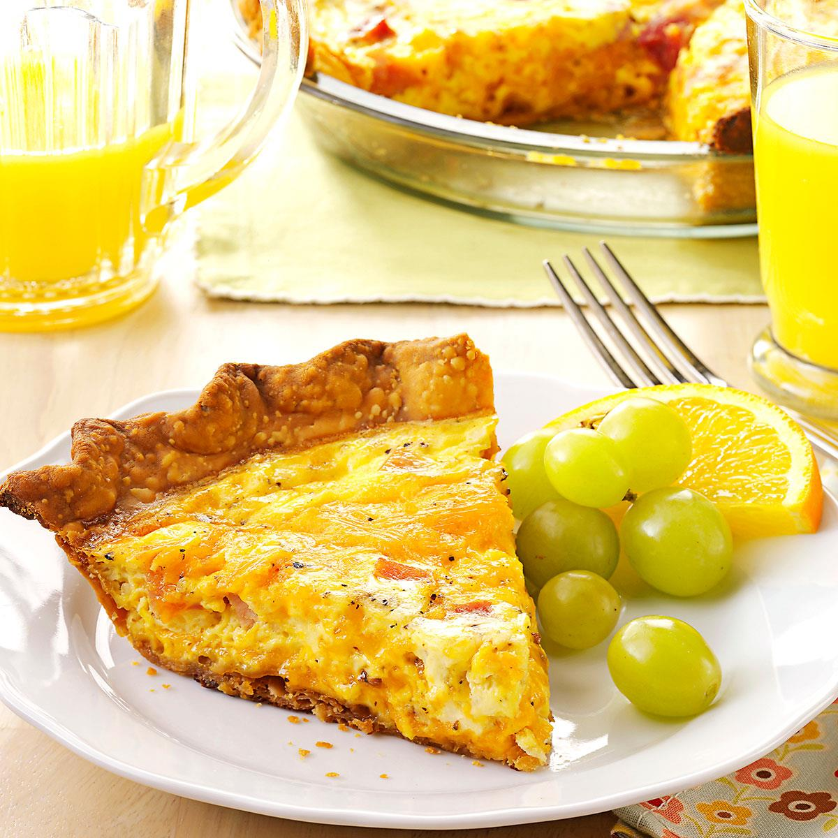 Ham n cheese quiche recipe taste of home forumfinder Image collections