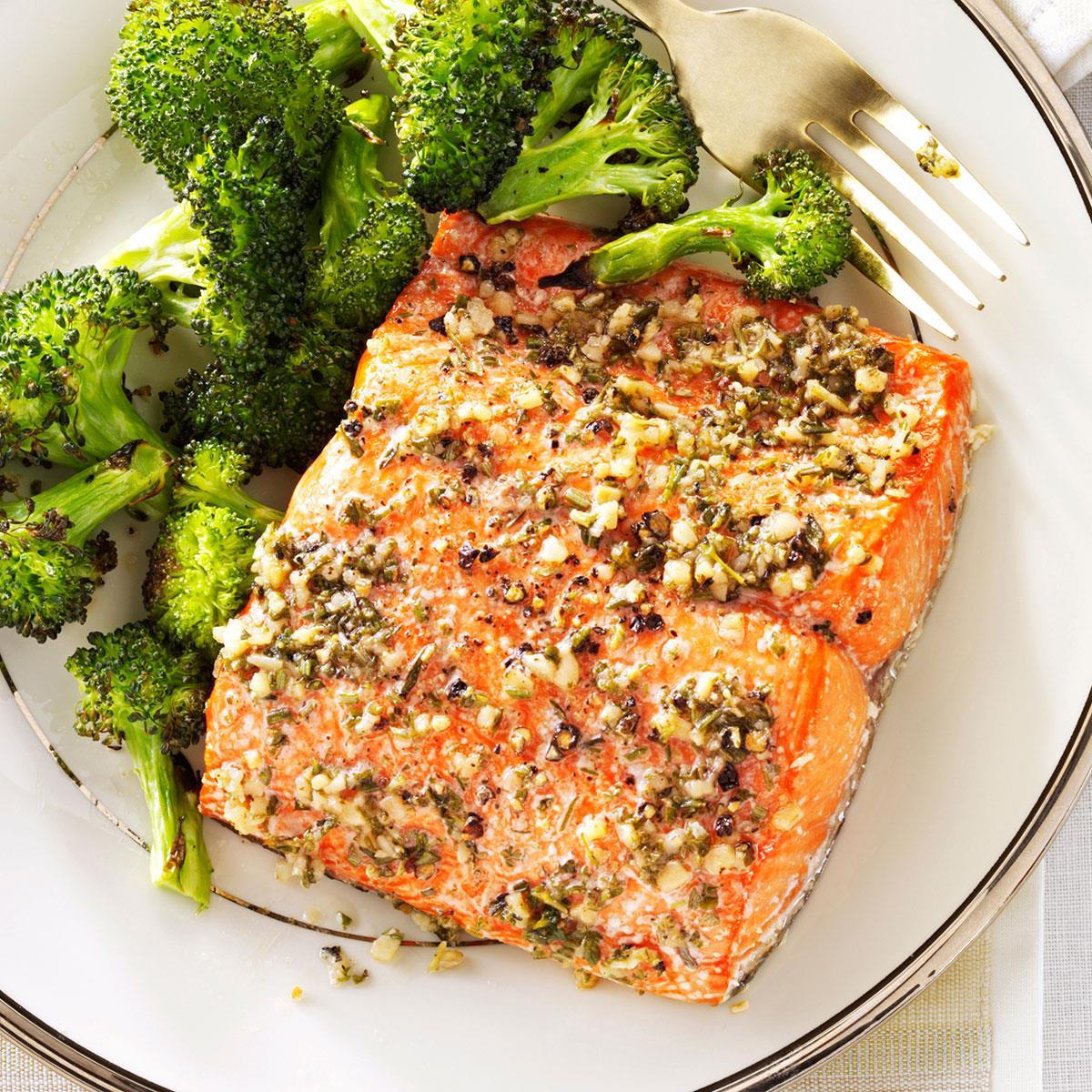 3a946e599e25 Herb-Roasted Salmon Fillets Recipe