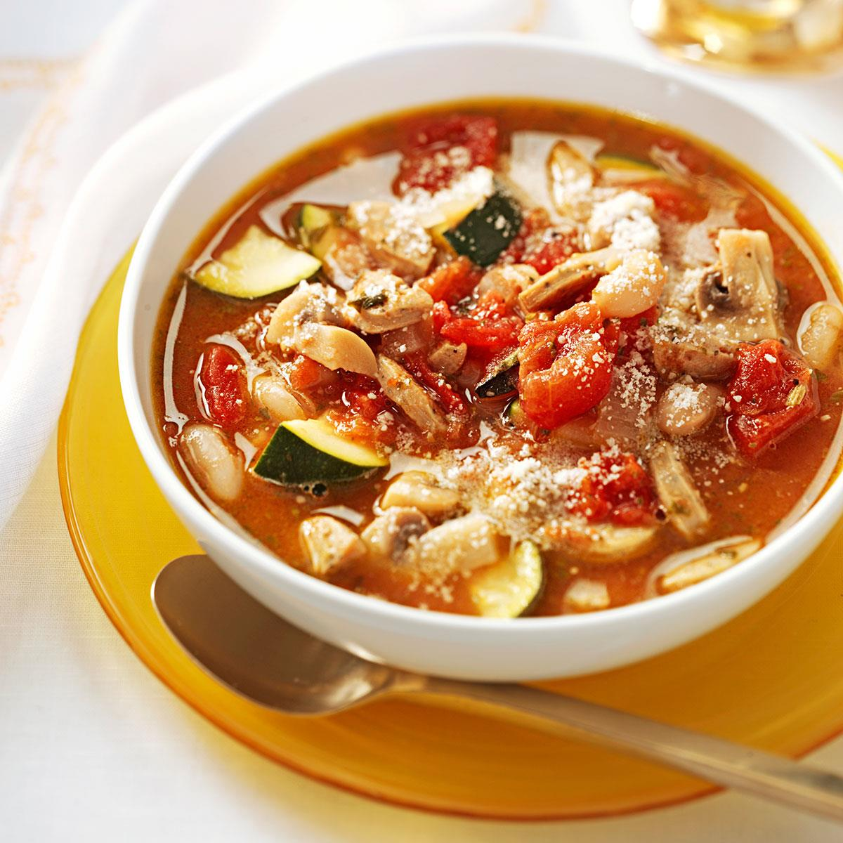 How to cook soup with sausage