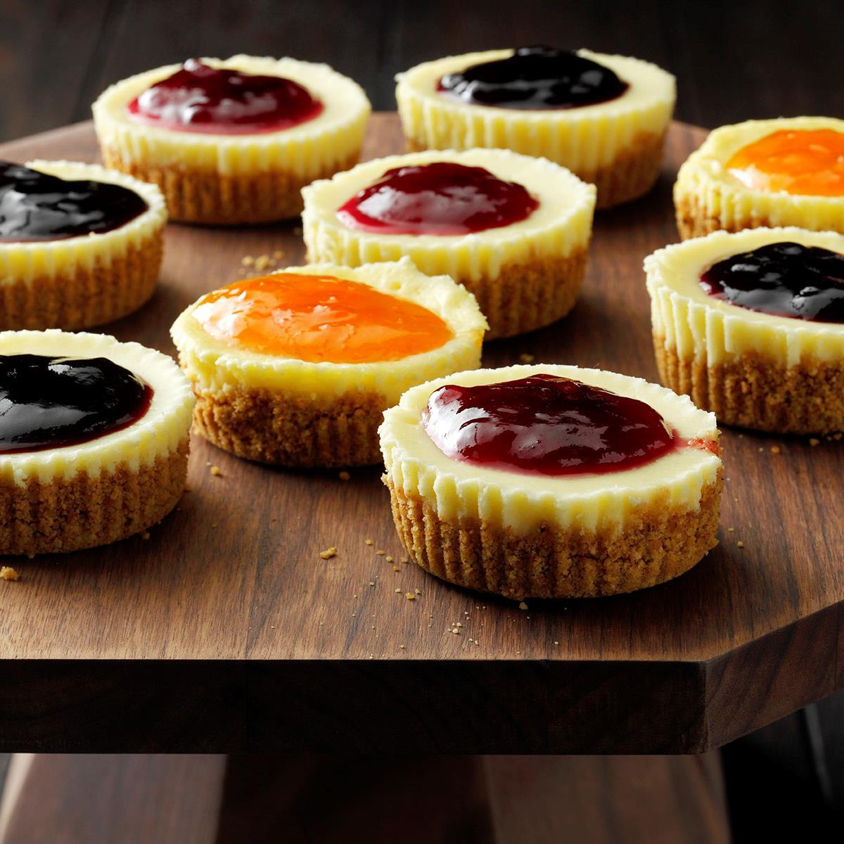 Jam Topped Mini Cheesecakes Recipe Taste Of Home