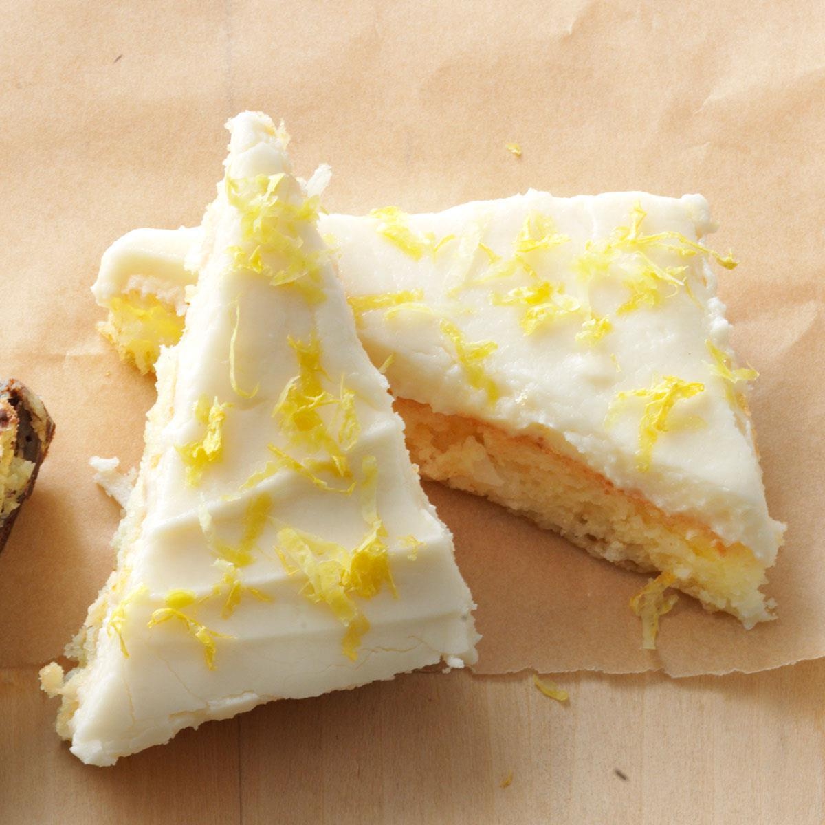 Lemon Angel Cake Bars Recipe Taste Of Home