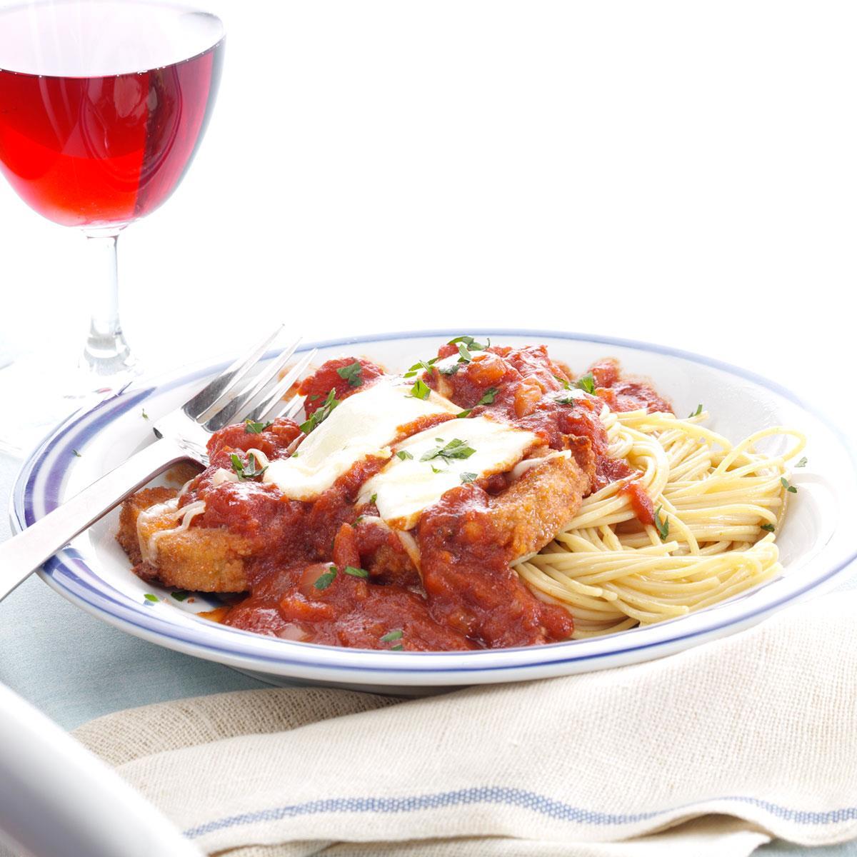 Makeover Eggplant Parmesan Recipe   Taste of Home