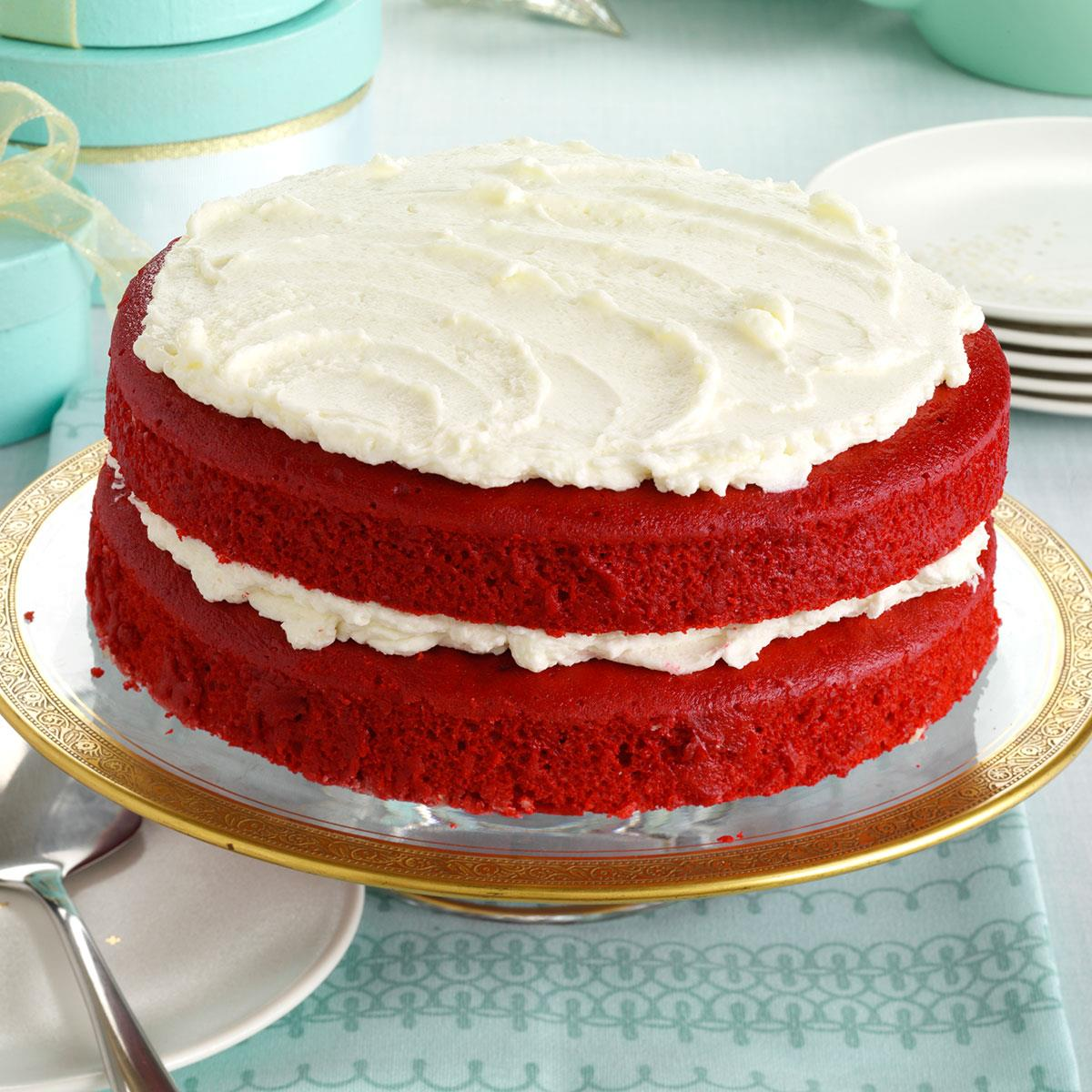 Tremendous Makeover Red Velvet Cake Recipe Taste Of Home Funny Birthday Cards Online Alyptdamsfinfo