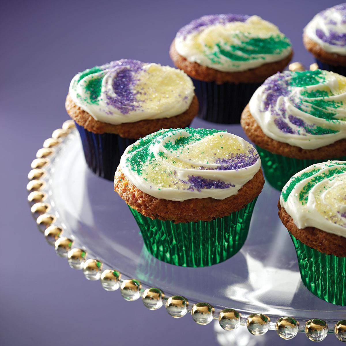 Mardi gras cupcakes recipe taste of home forumfinder Image collections