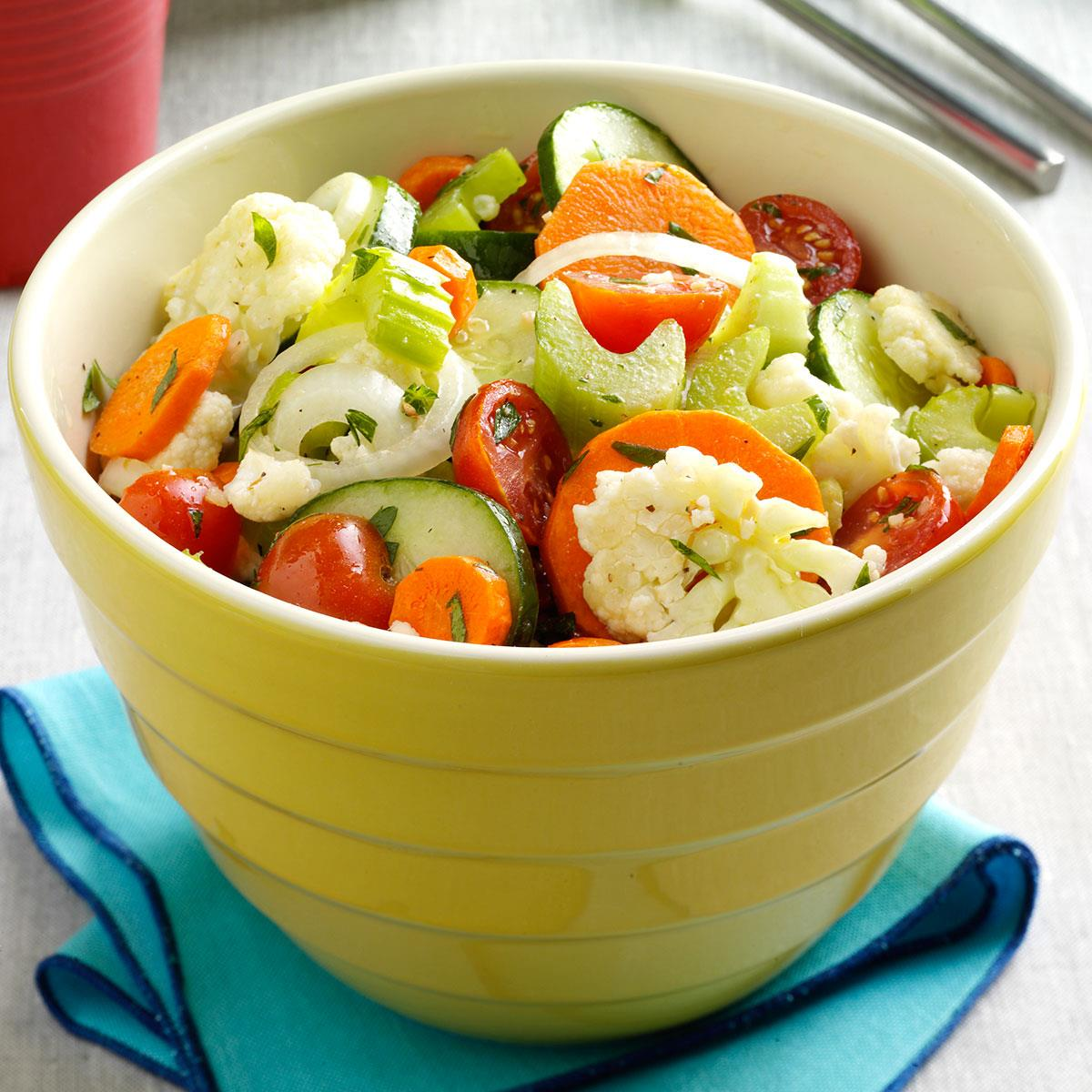 Marinated Fresh Vegetable Salad