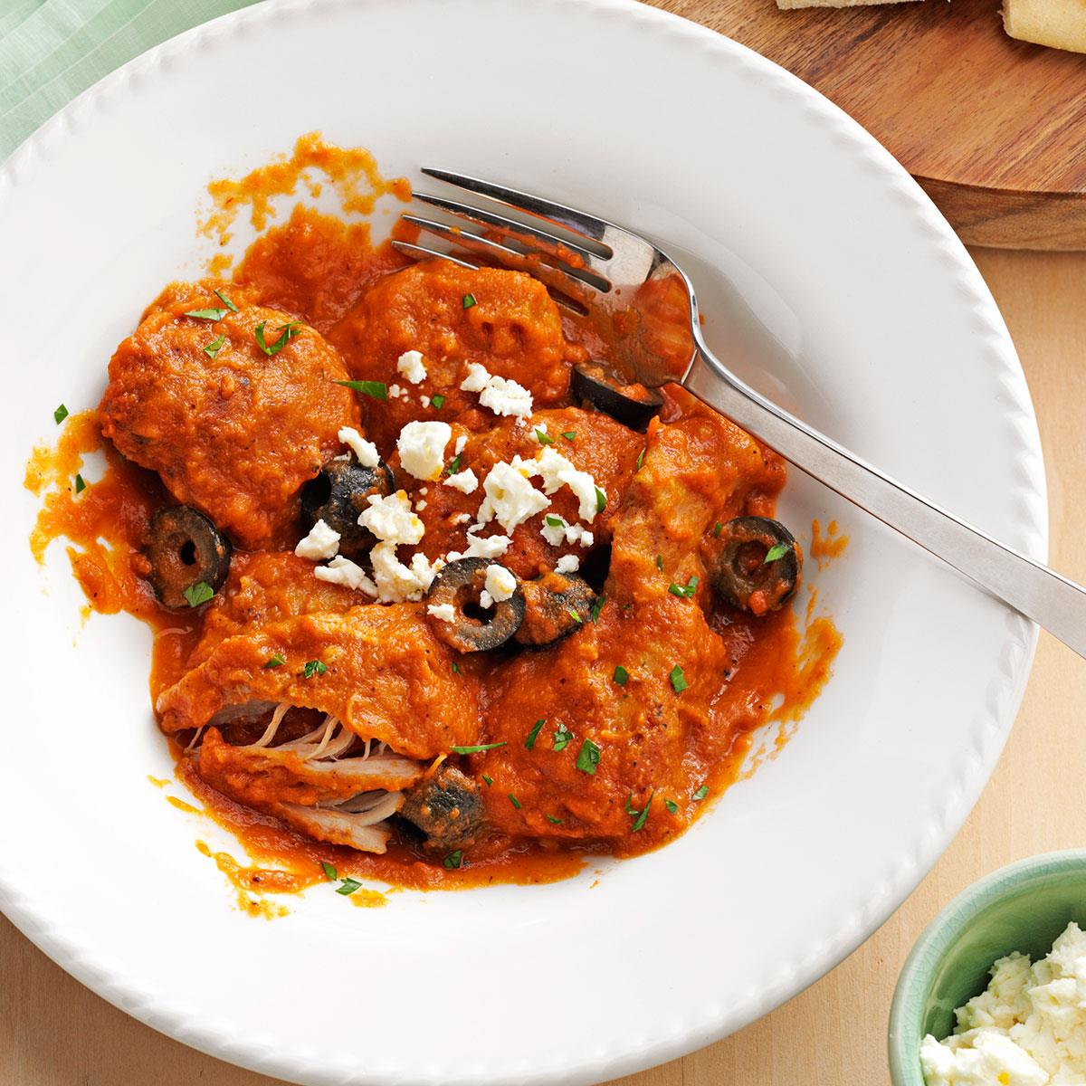 Mediterranean chicken in eggplant sauce taste of home forumfinder Images