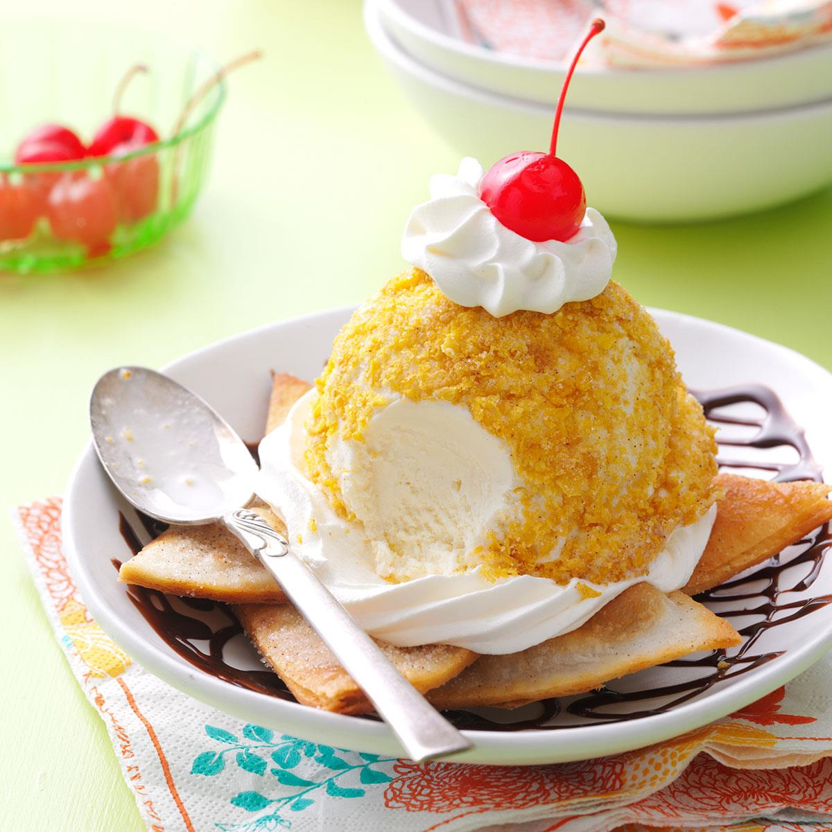 Mexican ice cream sundaes recipe taste of home forumfinder Choice Image