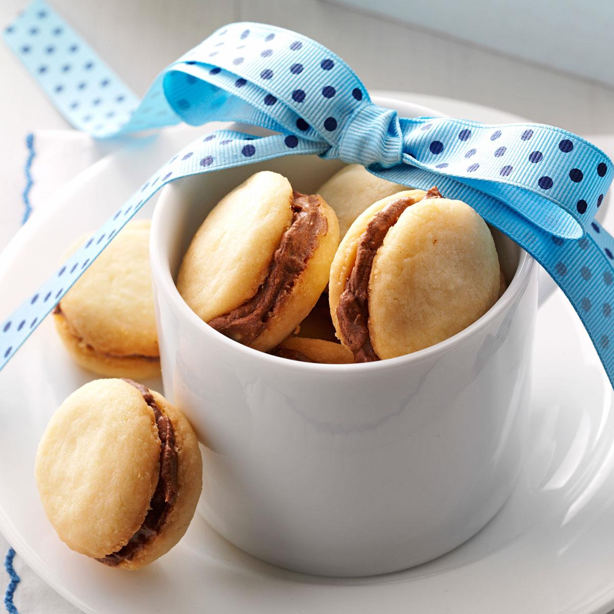 Mocha Sandwich Cookies Recipe Taste Of Home