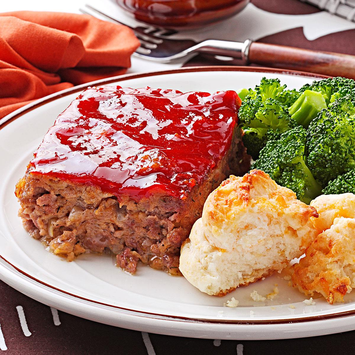 Moist savory meat loaf recipe taste of home forumfinder Gallery