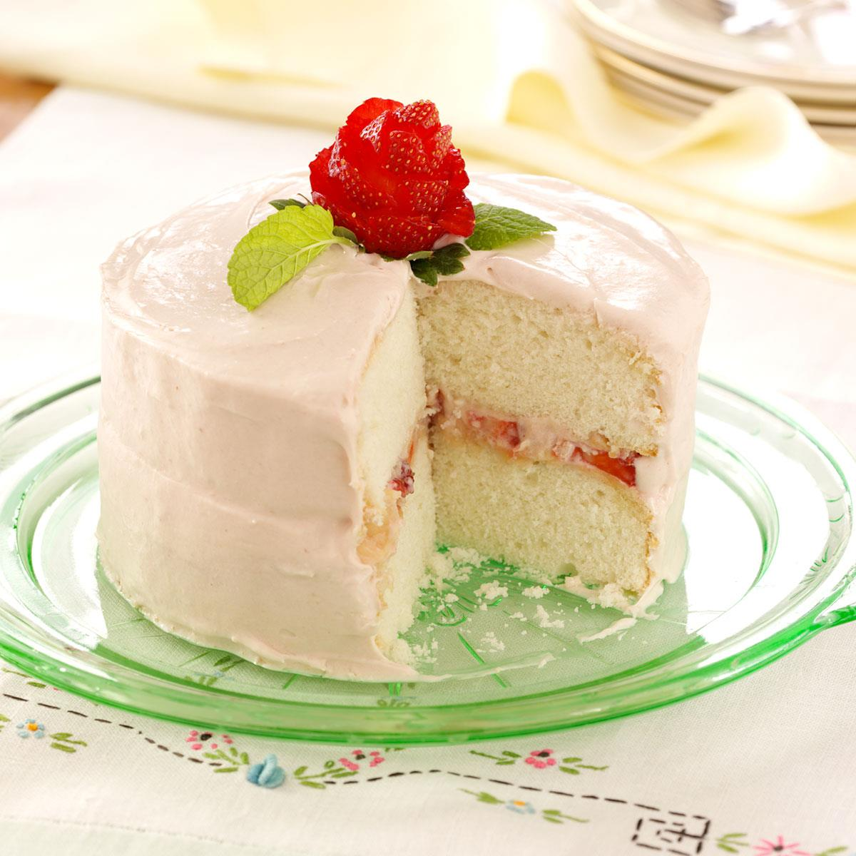Moms Favorite White Cake Recipe Taste Of Home