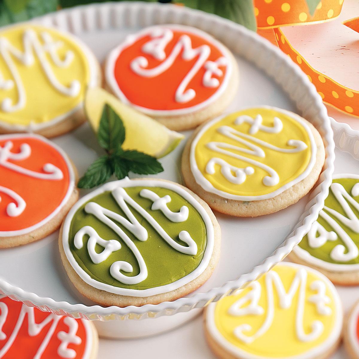 Monogrammed Cookies Recipe | Taste of Home