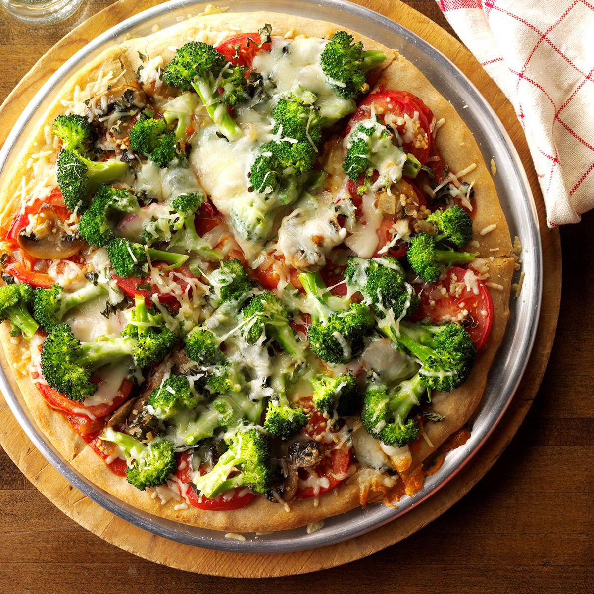 Watch Broccoli and Tomato Pizzas video