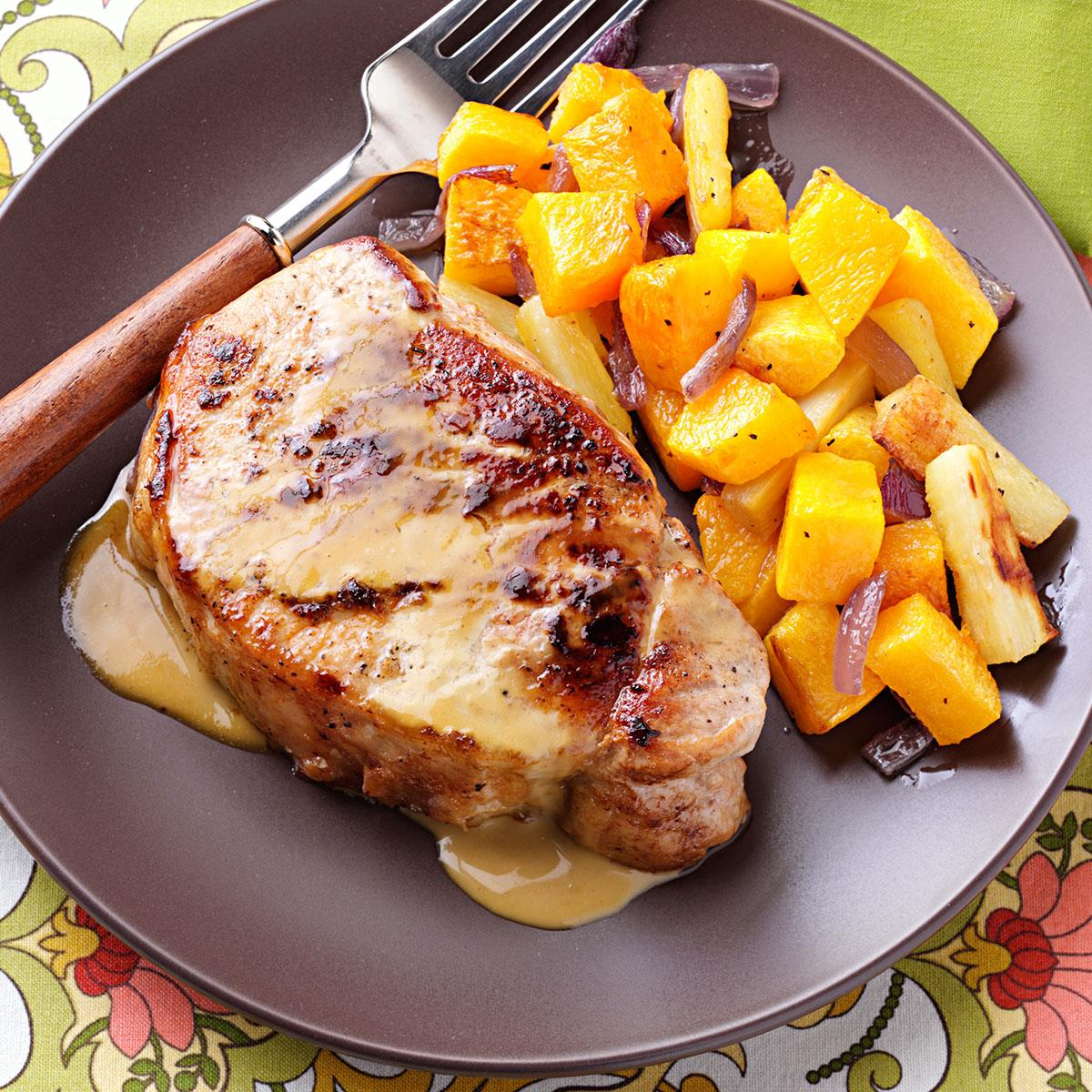 Pork Chops with Sweet Mustard Sauce