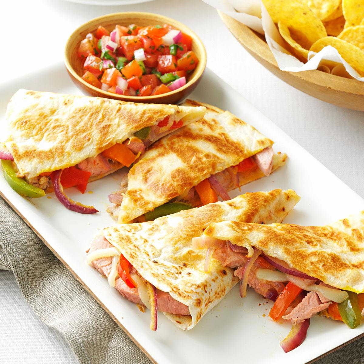 Pork quesadillas with fresh salsa recipe taste of home forumfinder Gallery
