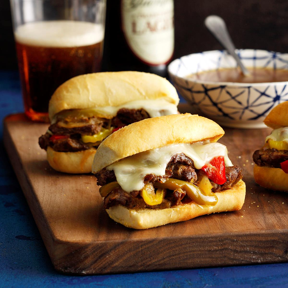 Pressure Cooker Philly Cheesesteak Sandwiches