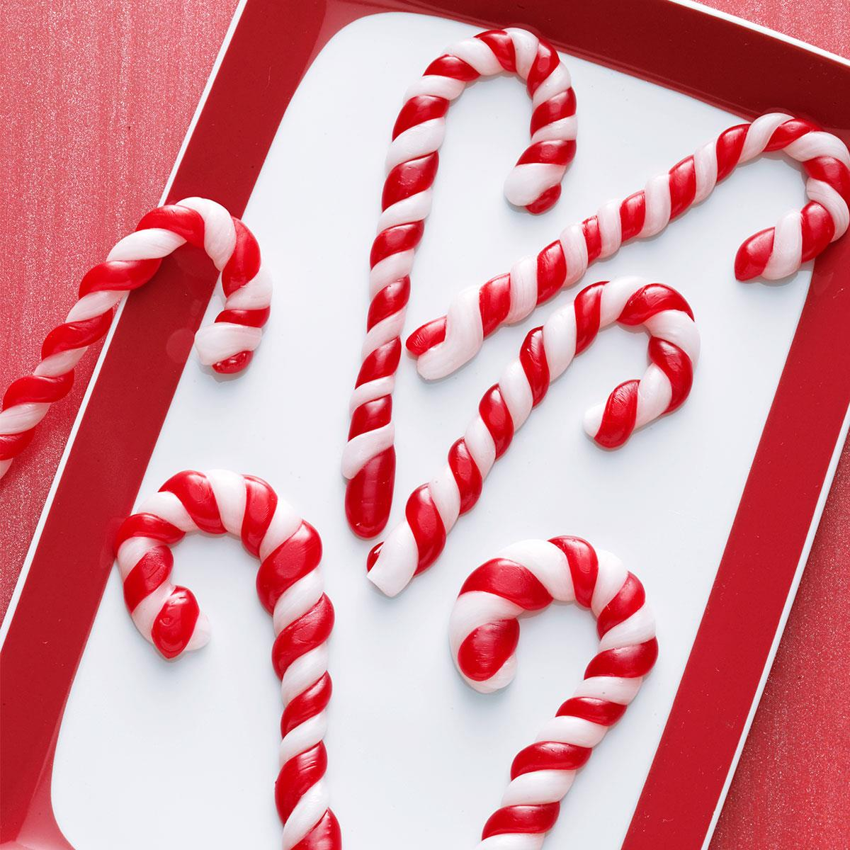 Pulled Taffy Candy Canes Recipe | Taste of Home