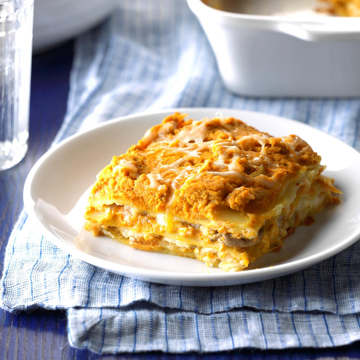picture Pumpkin and Spinach Lasagna