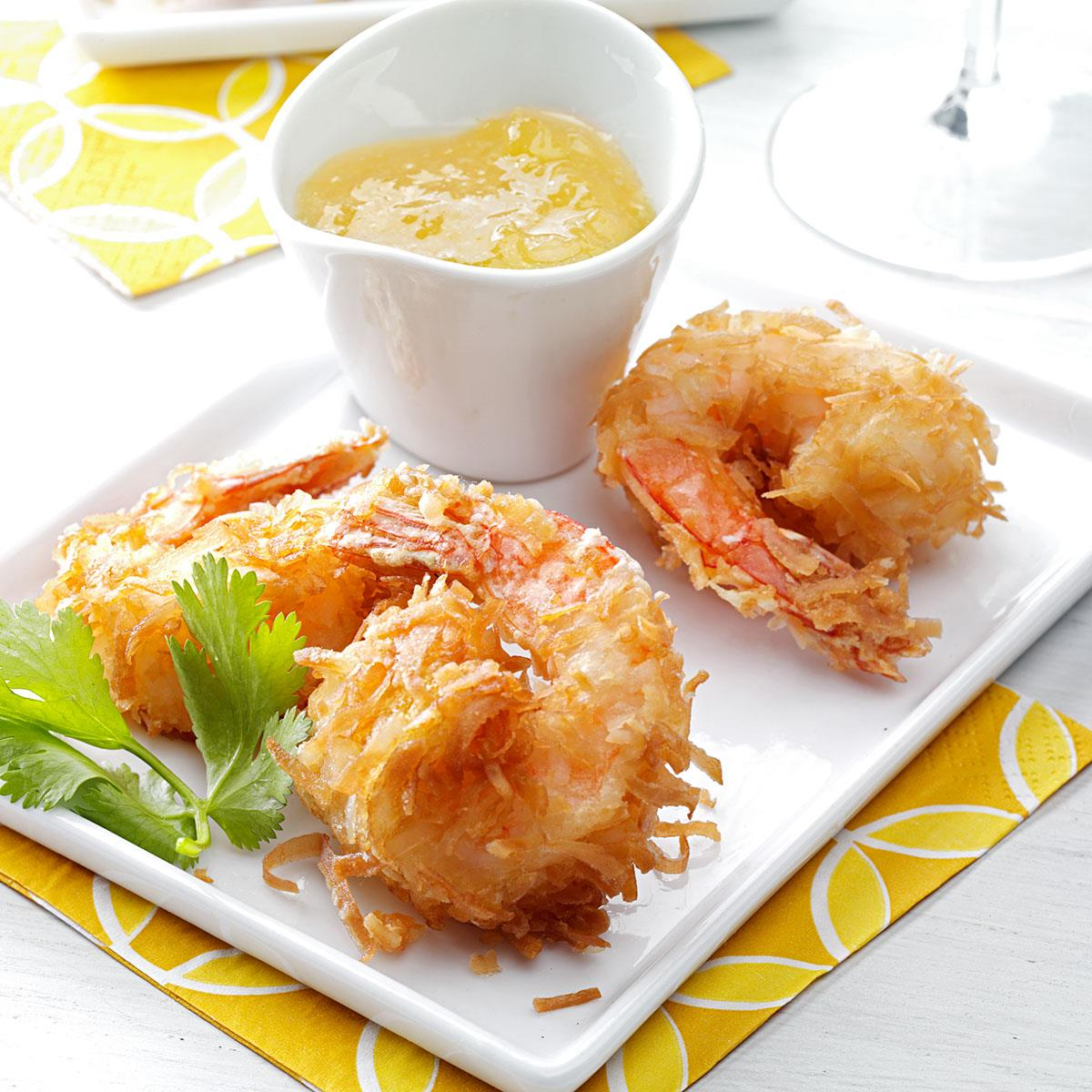 1. Coconut popcorn shrimp advise