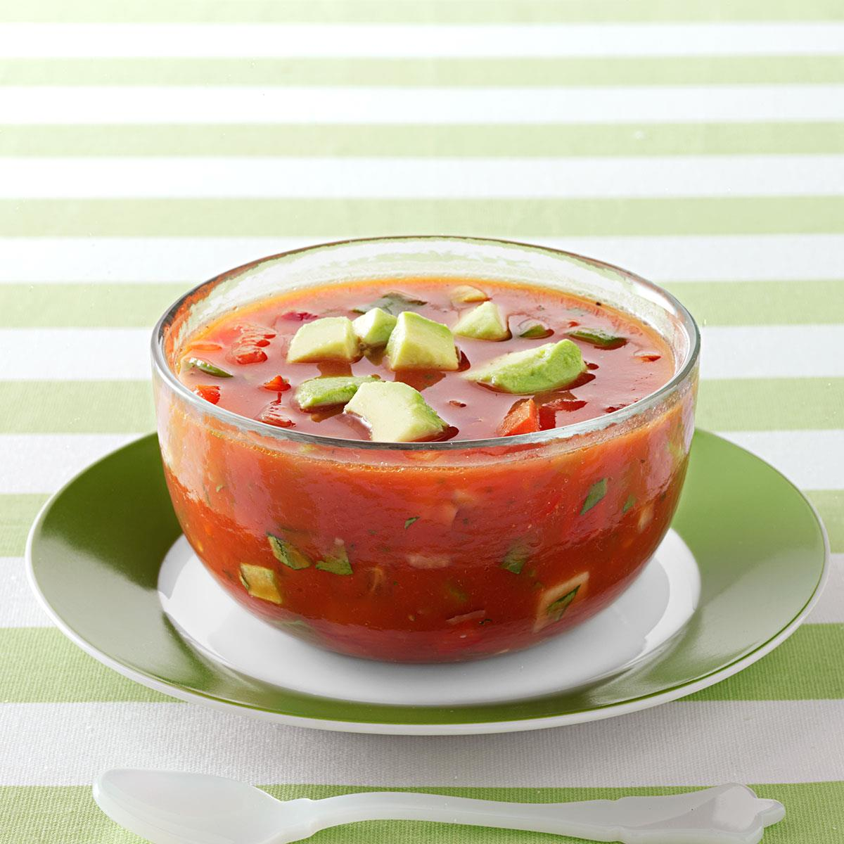 Refreshing Gazpacho Recipe Taste Of Home
