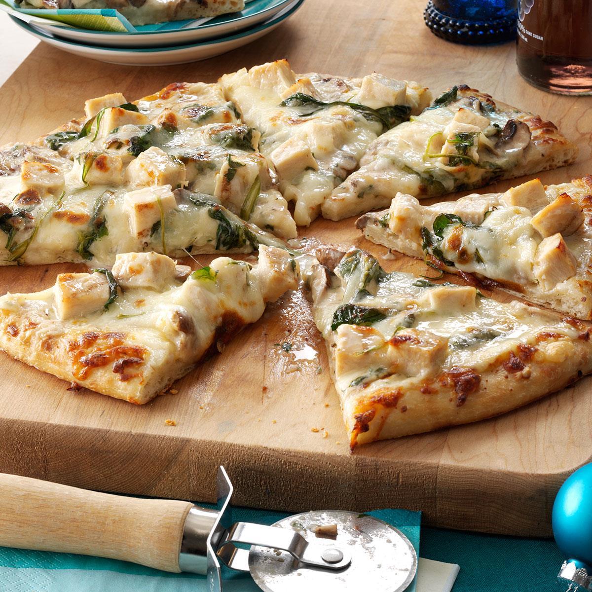 Rich Chicken Alfredo Pizza Recipe | Taste of Home